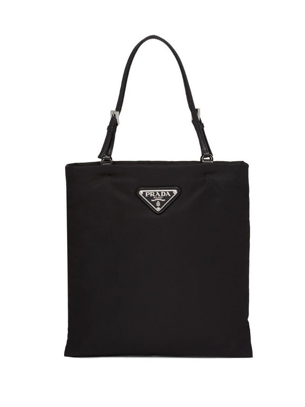 Prada top handle tote bag in black