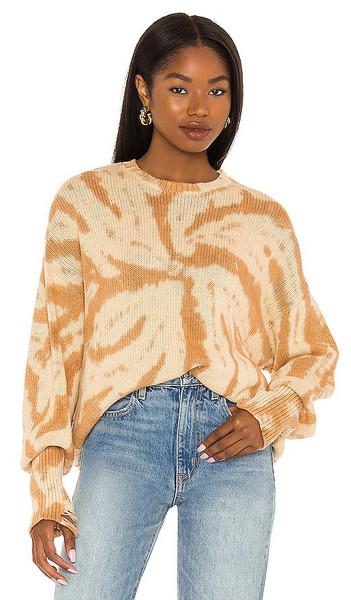 NSF Anabelle Boyfriend Slouchy Sweater in Tan in sand