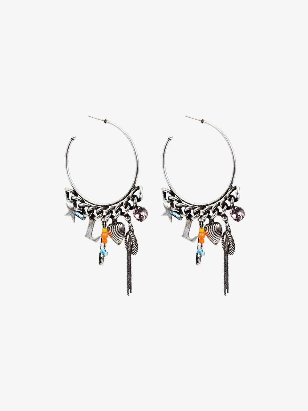 Dannijo Ajani hoop earrings in metallic