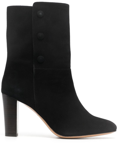 Tila March heeled leather ankle boots in black