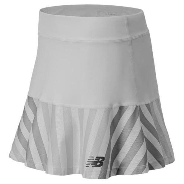 New Balance 5162 Women's Printed Challenger Skirt - White, Silver Mink (WTK5162WT)