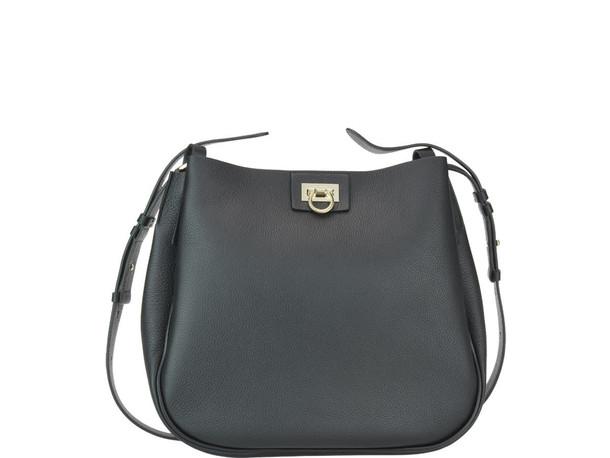 Salvatore Ferragamo Reverse Hobo Bag in black