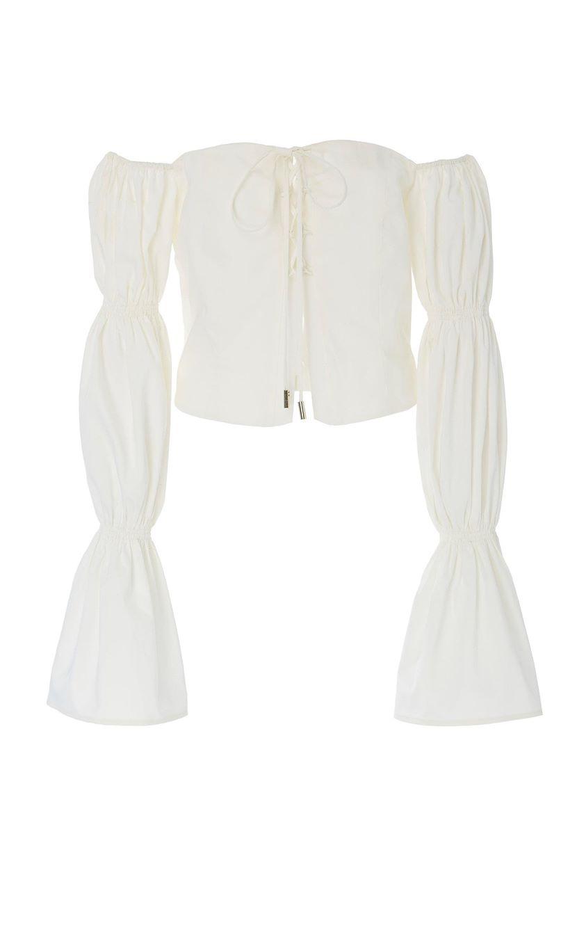 Cult Gaia Claire Off-the-Shoulder Cotton Top Size: M