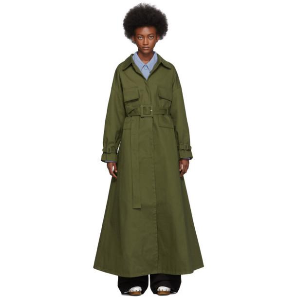Jacquemus Khaki Le Manteau Thika Coat
