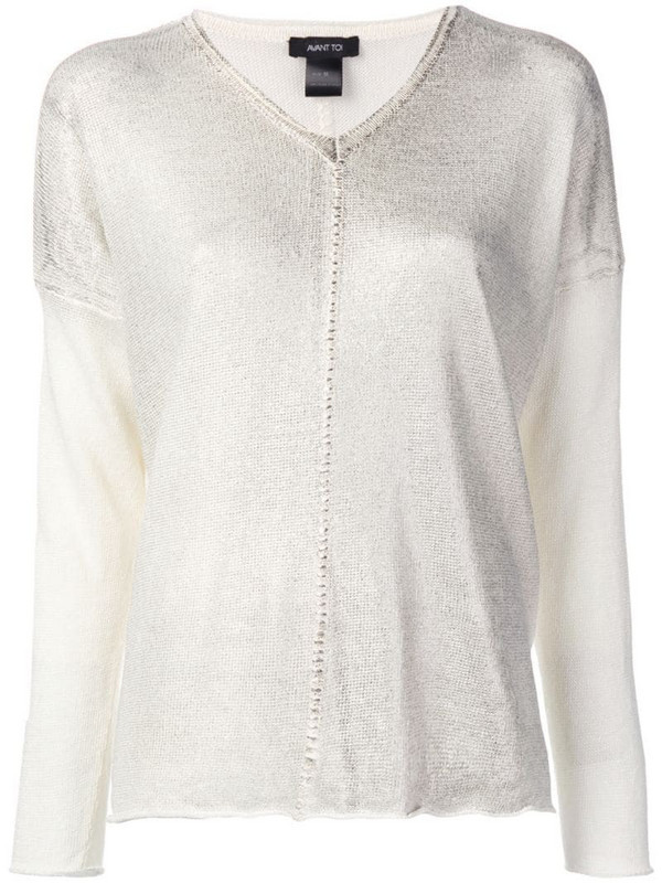 Avant Toi V-neck jumper in neutrals