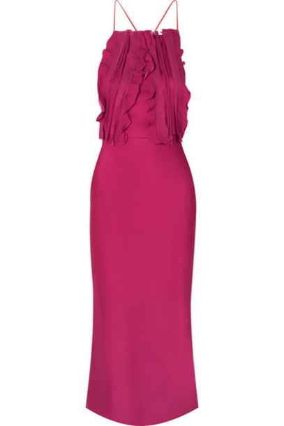 806104a1e Jason Wu Collection Jason Wu Collection - Ruffled Silk Crepon-trimmed Satin Midi  Dress - Red