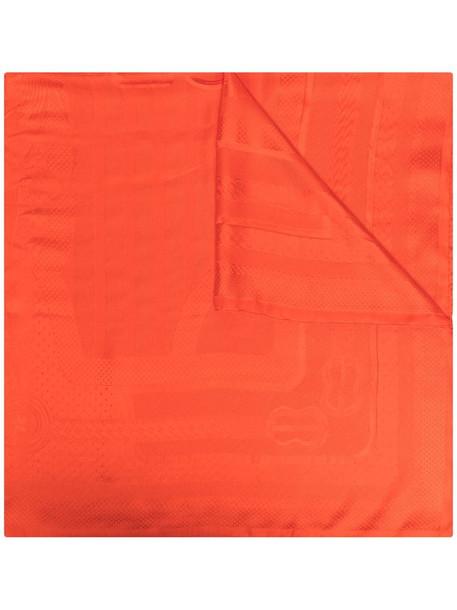 Hermès pre-owned textured stripe scarf in red