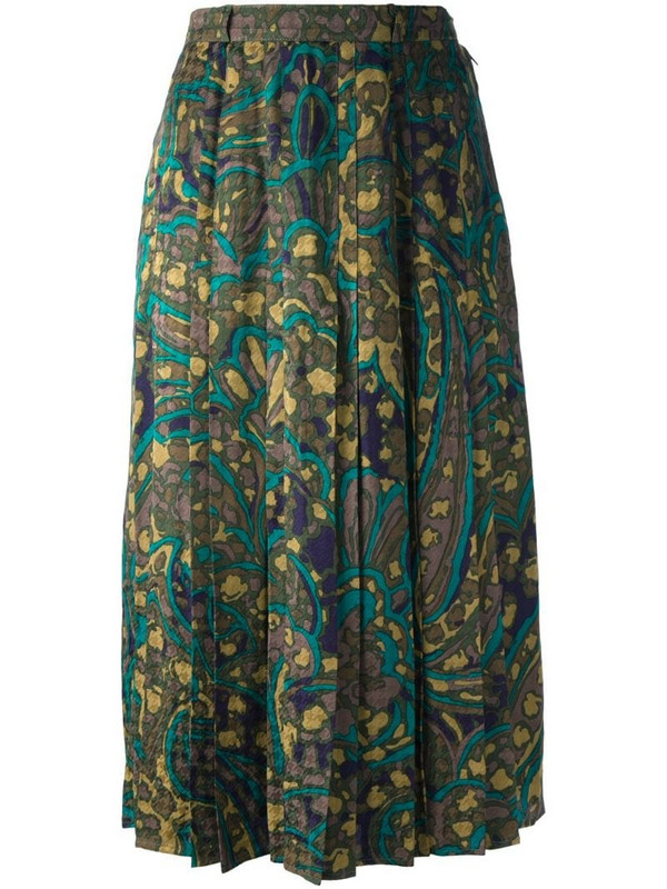 Jean Louis Scherrer Pre-Owned abstract floral print skirt