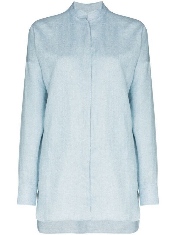Bondi Born Everywhere linen shirt in blue