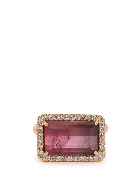 Irene Neuwirth - 18kt Rose Gold, Pink Tourmaline & Diamond Ring - Womens - Pink