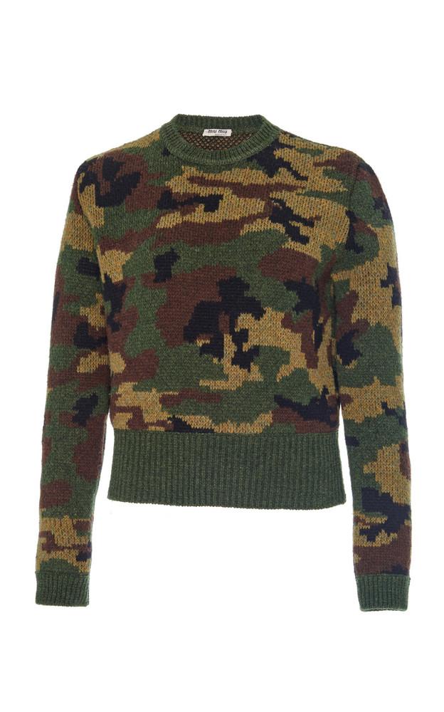 Miu Miu Camouflage Sweater Size: 42 in print