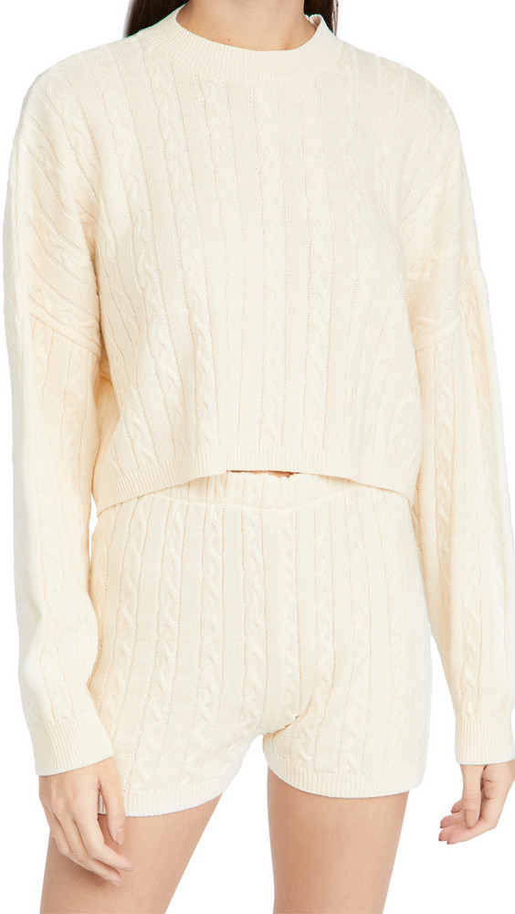 Rahi Donna Sweater and Shorts Set in cream