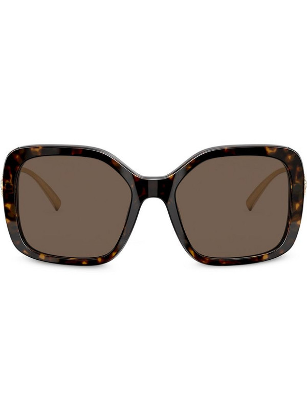 Versace Eyewear oversized frame sunglasses in brown