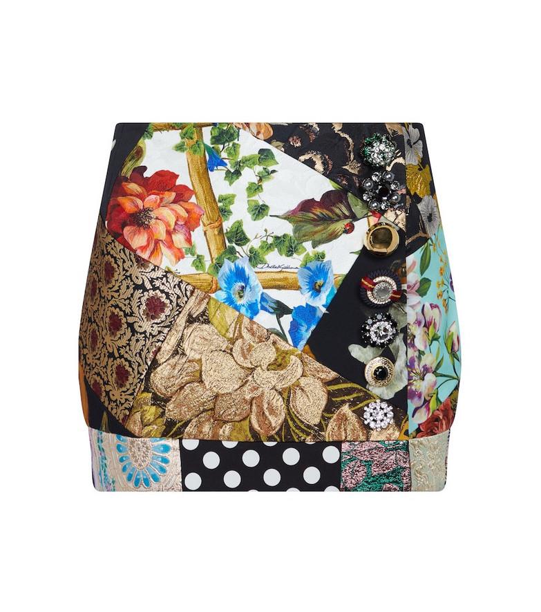 Dolce & Gabbana Brocade patchwork miniskirt