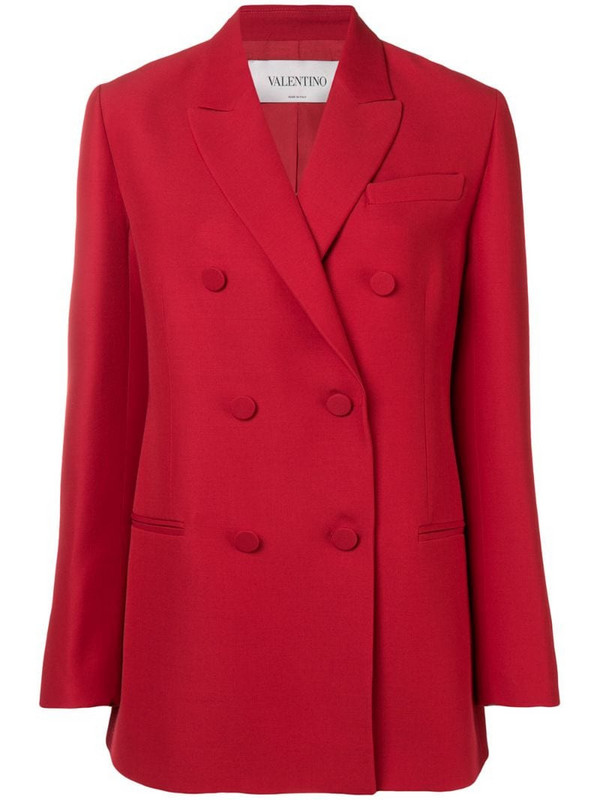 Valentino double breasted blazer in red