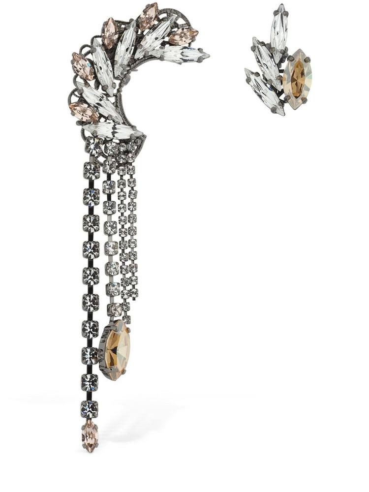 ANTON HEUNIS Omega Asymmetric Clasp Earrings in gold