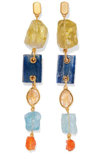 Monica Vinader - Caroline Issa Gold Vermeil Multi-stone Earrings
