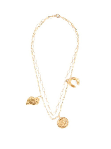 Alighieri - Multi Charm Gold Plated Necklace - Womens - Gold