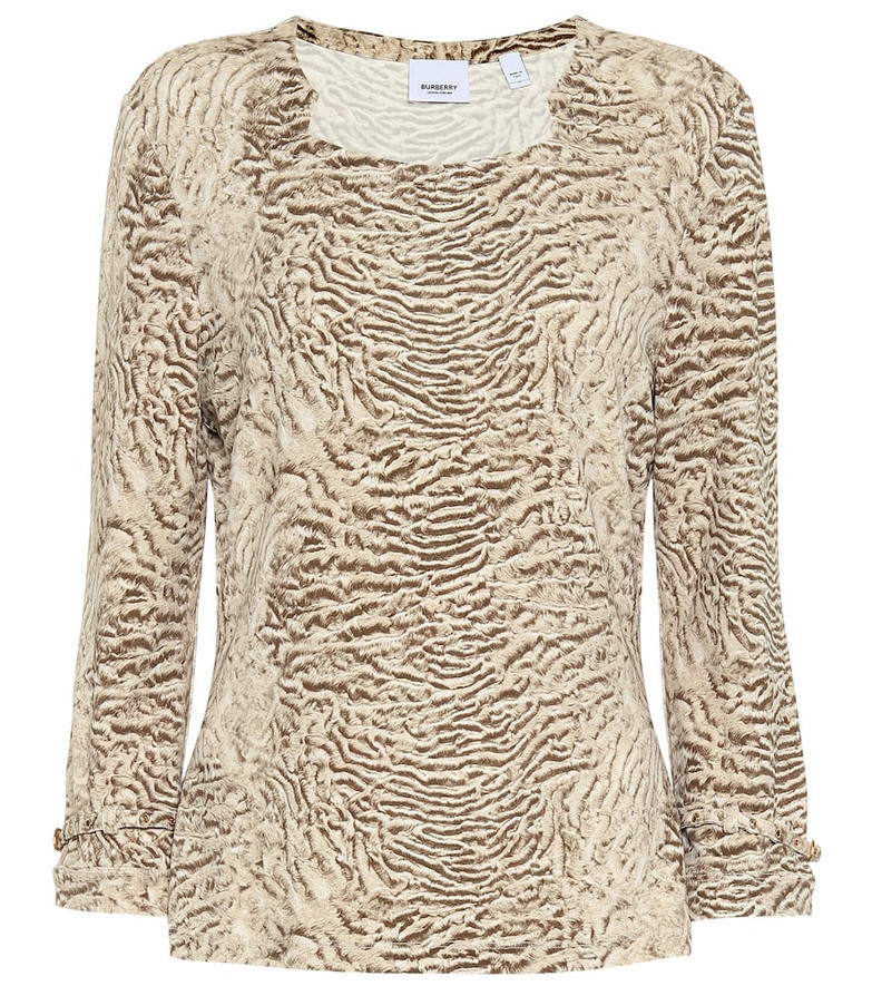 Burberry Printed shirt in beige
