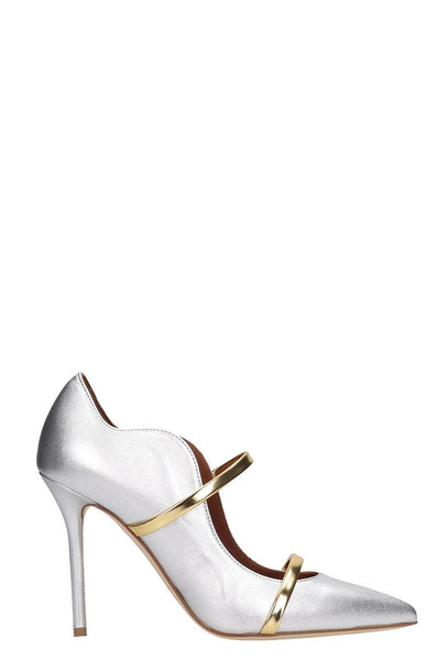 Malone Souliers Maureen 100 Pumps In Silver Leather