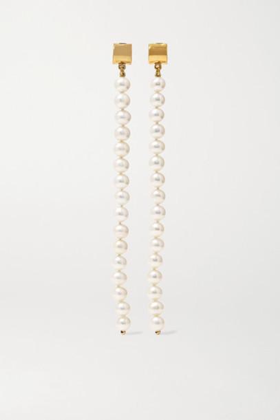 Meadowlark - Gold-plated Pearl Earrings
