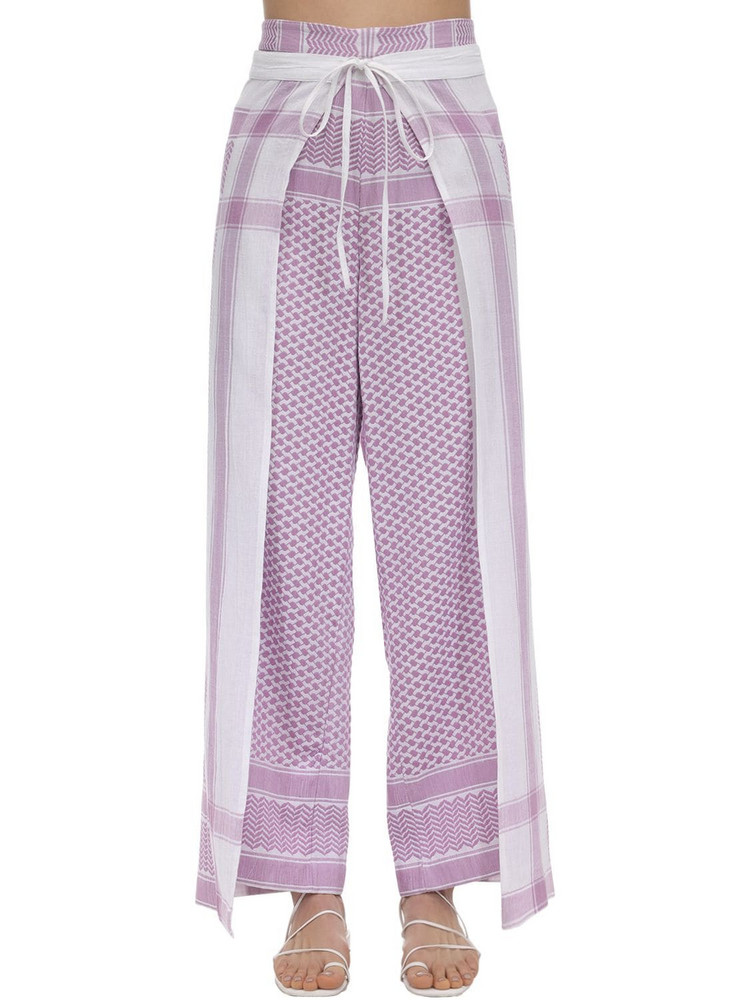 CECILIE COPENHAGEN Hella Cotton Wrap Pants in lilac