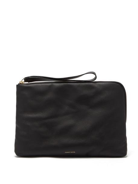 Mansur Gavriel - Pillow Pouch Leather Clutch - Womens - Black Multi