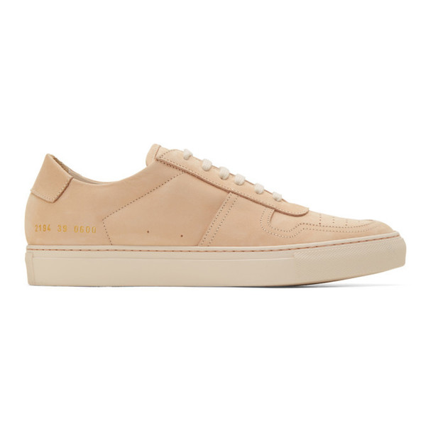 Common Projects Beige Nubuck BBall Low Sneakers