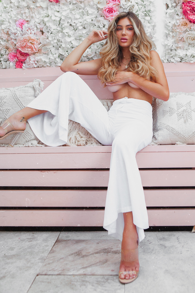 pants tailoring white classic style staple high waisted