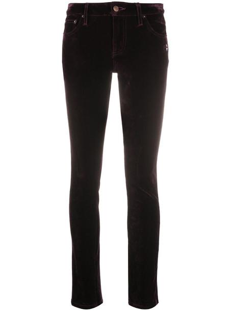 Marc Jacobs velvet-effect skinny jeans in purple