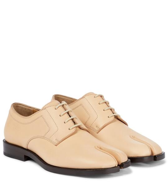 Maison Margiela Tabi leather Derby shoes in beige