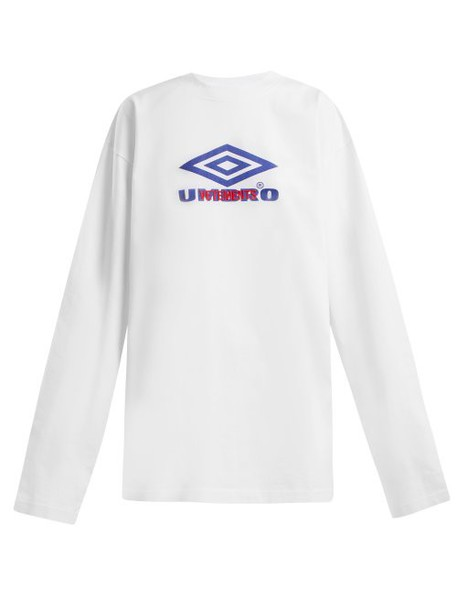 Vetements - X Umbro Long Sleeved Cotton T Shirt - Womens - White