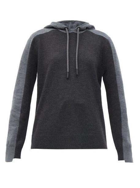 Burberry - Feltham Two-tone Wool-blend Hooded Sweatshirt - Womens - Grey