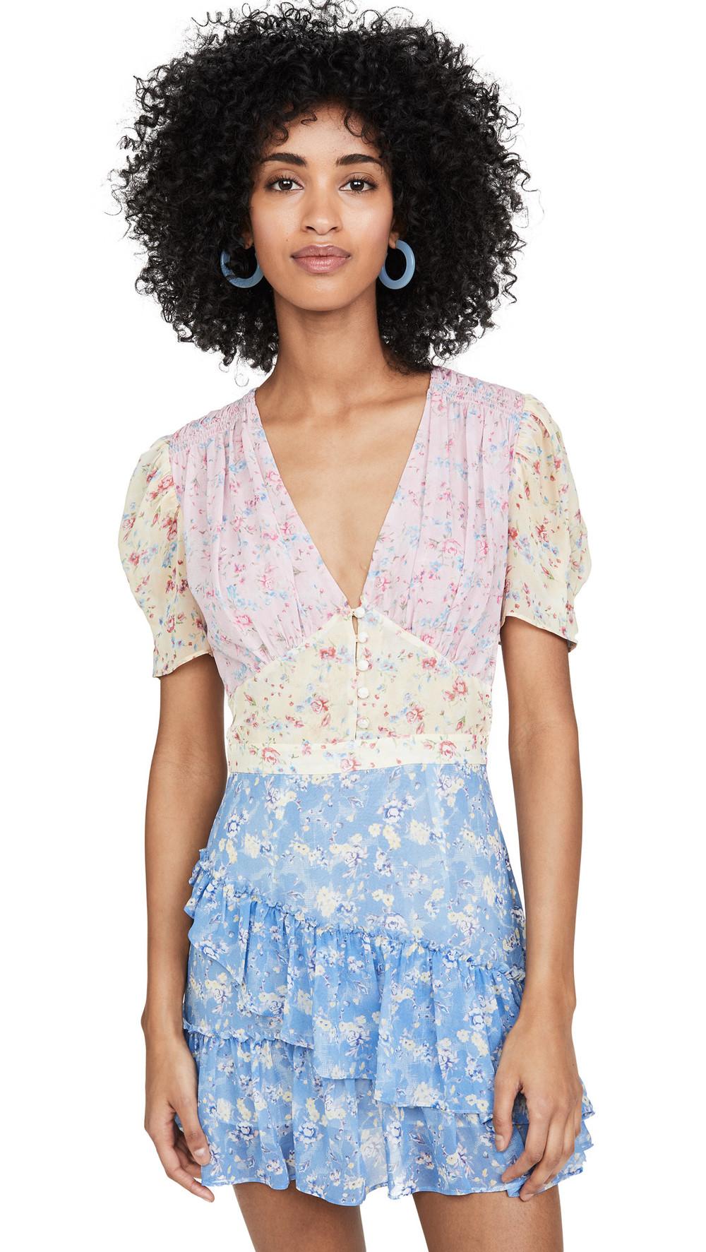 LOVESHACKFANCY Bea Dress in multi
