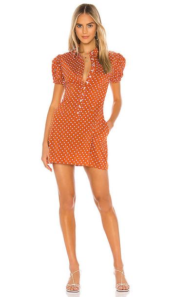 WeWoreWhat Mini Dress in Rust