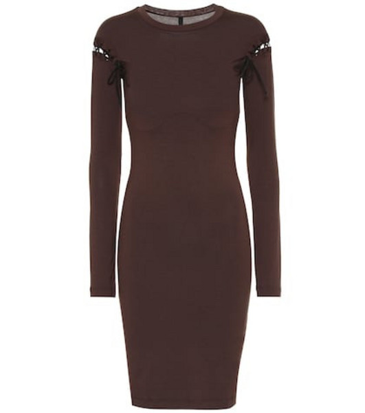 Unravel Stretch jersey minidress in brown