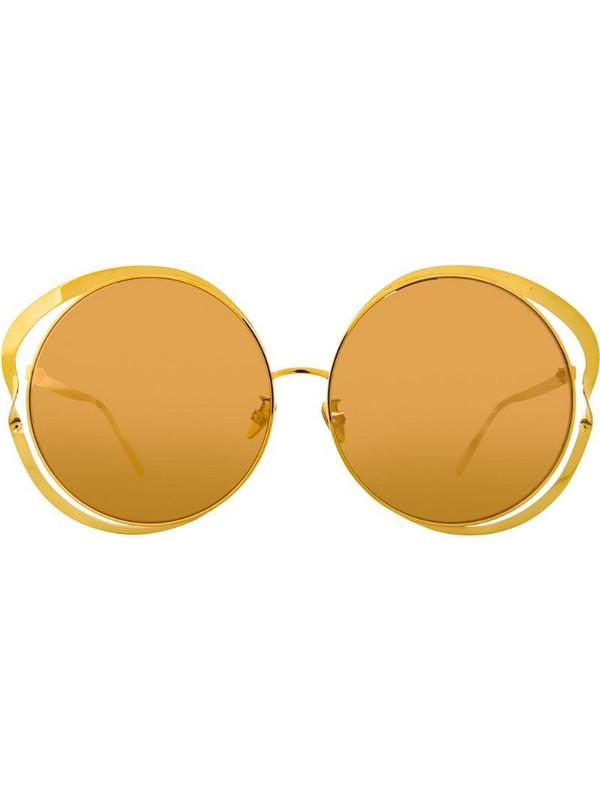 Linda Farrow 660 C1 round sunglasses in yellow
