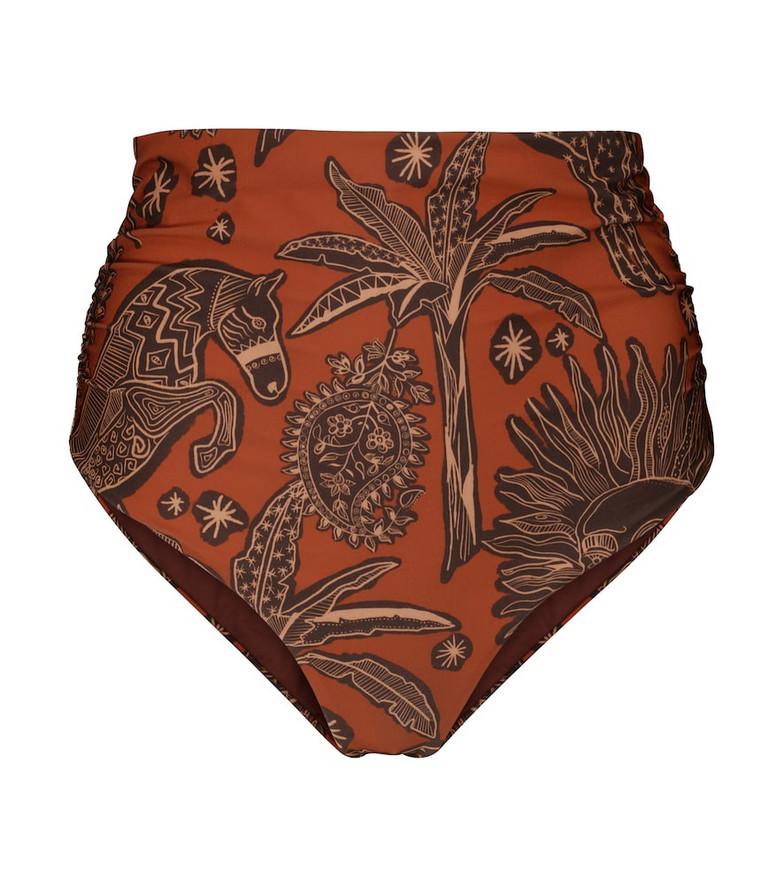 Johanna Ortiz Aymara printed bikini bottoms in red
