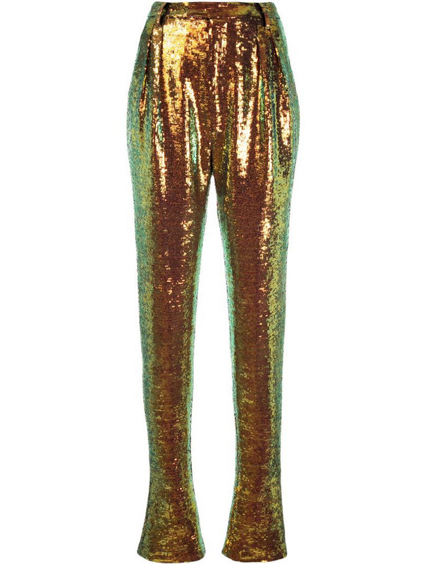LAPOINTE high-rise sequin trousers in metallic