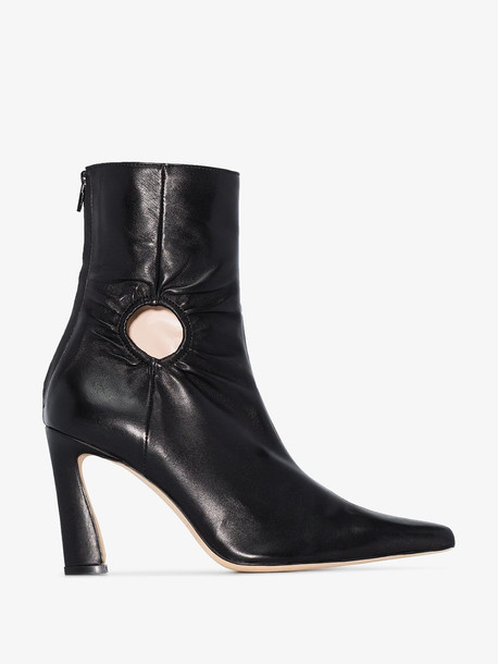 Kalda black fory 80 leather ankle boots