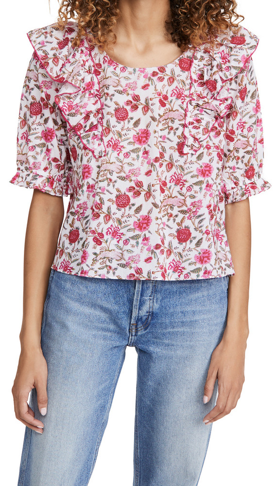 Playa Lucila Cotton Top in pink