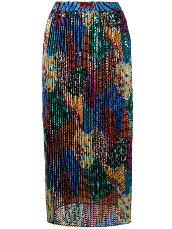 M Missoni multi-print sequin embroidered skirt in black