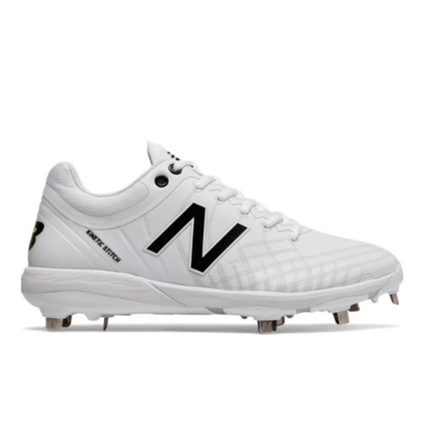 New Balance 4040v5 Metal Men's Cleats and Turf Shoes - White/Off White (L4040TW5)
