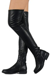 shoes,thigh high boots,black suede thigh high boots,thigh-high boots,over the knee boots,knee high boots,zipped boots,black overknees,suede boots