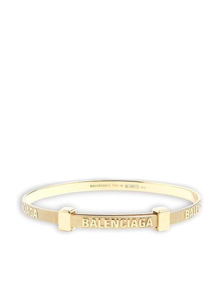 Balenciaga force striped bracelet - Gold
