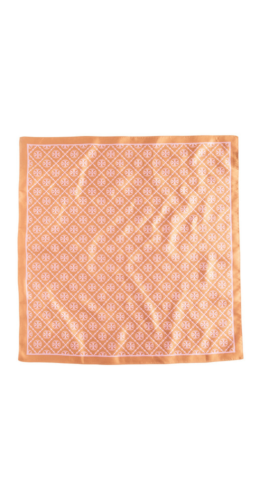 Tory Burch T Monogram Two Tone Scarf in pink