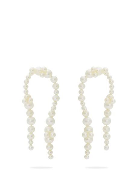 Completedworks - Firmament Gold Vermeil & Pearl Earrings - Womens - Pearl