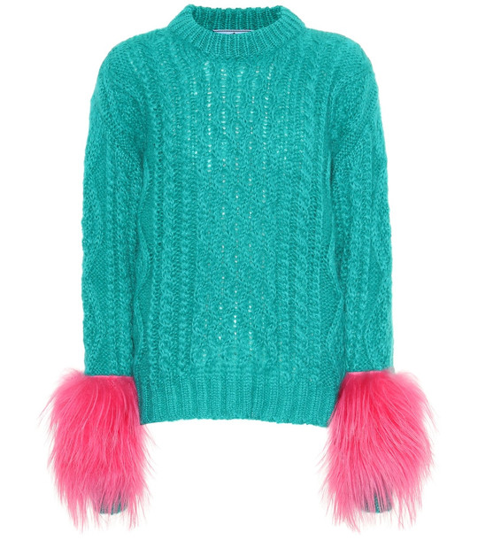 Prada Mohair and wool blend sweater in green