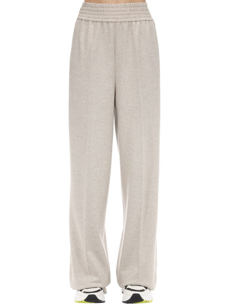 AGNONA Wool & Cashmere Flannel Pants in beige
