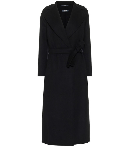 S Max Mara Poldo wool coat in black